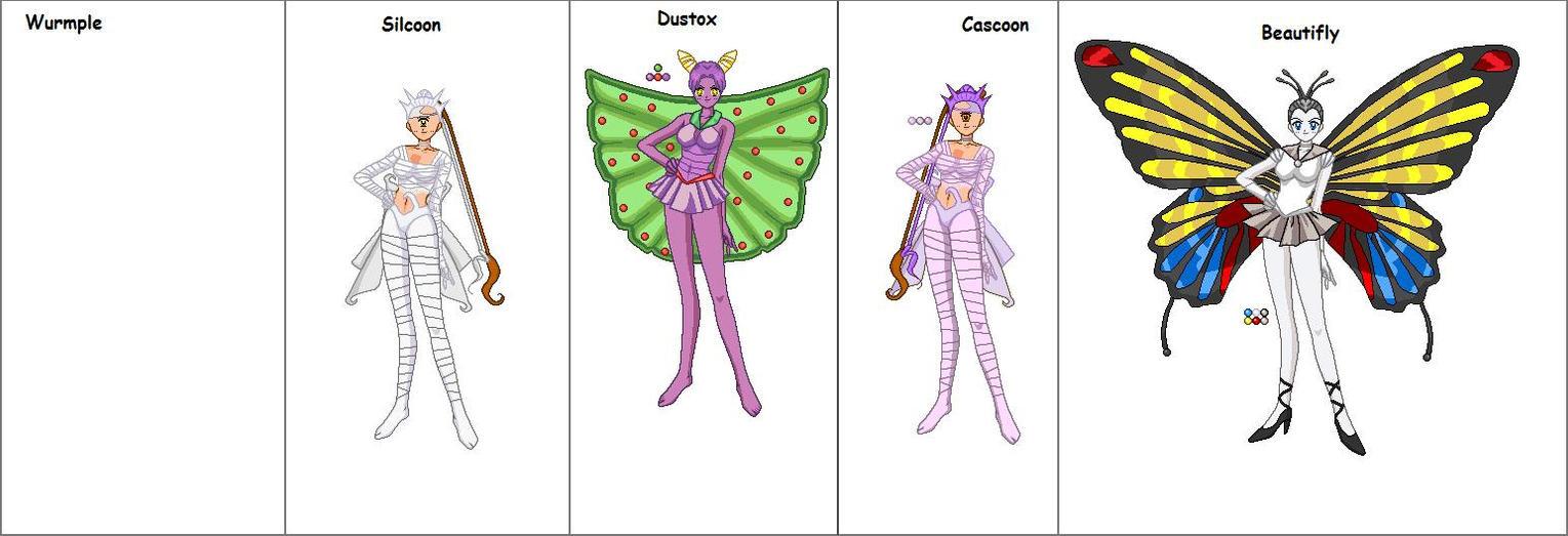 Beautifly Pokemon Evolution Wurmple senshi line by...