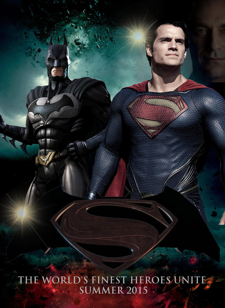 batmansuperman movie theatrical poster by paulrom on