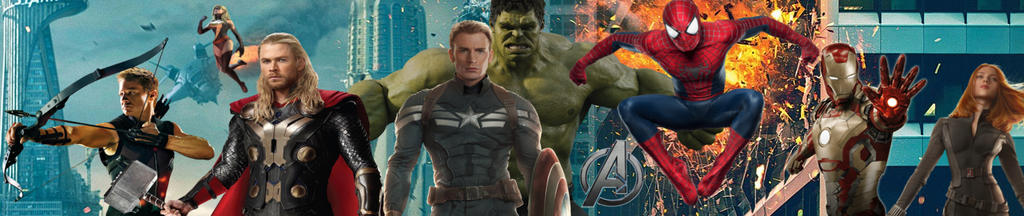 Avengers Lineup Banner by PaulRom
