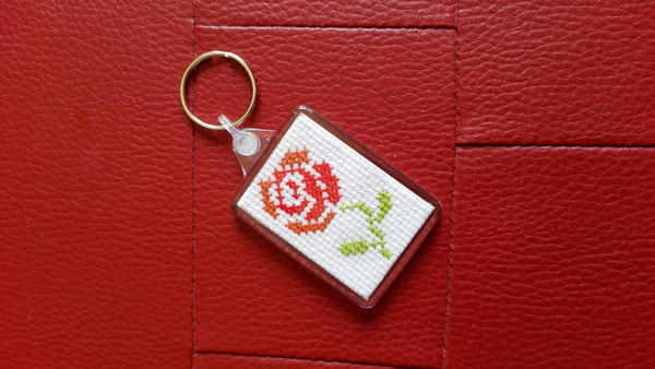Red Rose Keychain 2 by Rexcalius