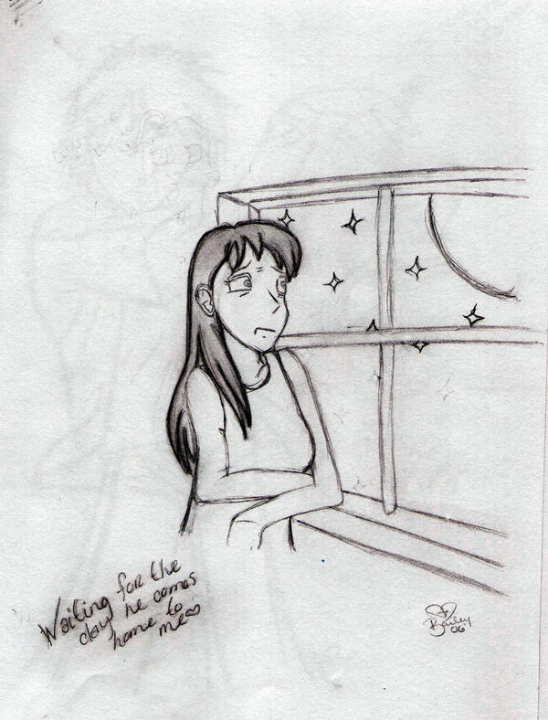 Lonely girl sketch by bibbies