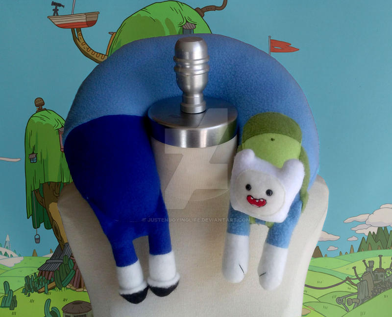 Finn the Human Neck Pillow by Justenjoyinglife
