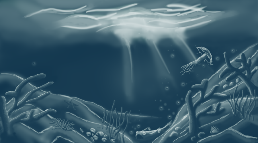 Underwater Monotone Drawing by SathishOmnathan on DeviantArt