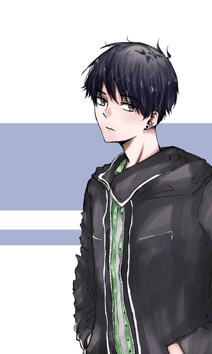 Anime boy with black hair