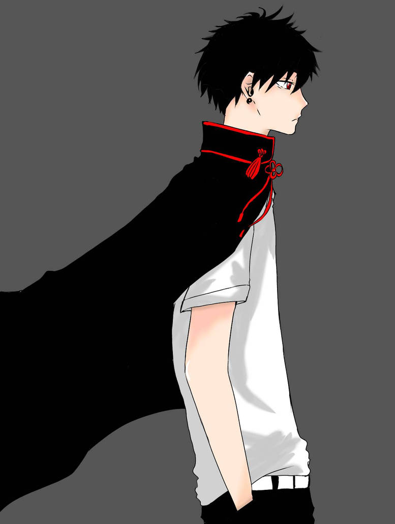 Anime boy black haired by kokyuhon