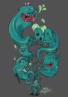 Genies in bottles by MetaMephisto