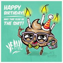 Birthday Poo-Poo by MetaMephisto