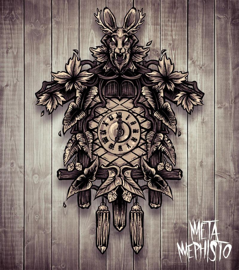 Wolpertinger Clock by MetaMephisto