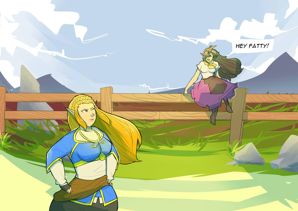 [COMM] Zelda and Malon Weight gain (1) by cvetkanille on ...