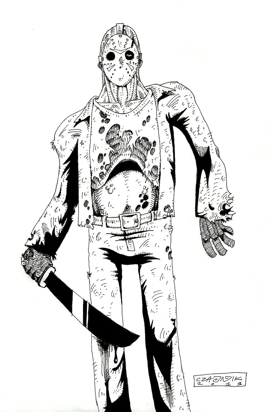 Coloring Pages Of Jason Voorhees Printable - BWWM.TEAM ...