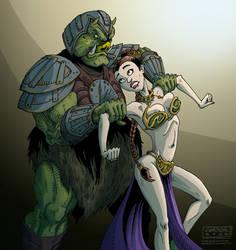 slave Leia by mastaczajnik