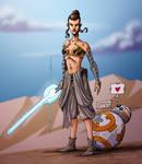 Rey's metal bikini part 2!