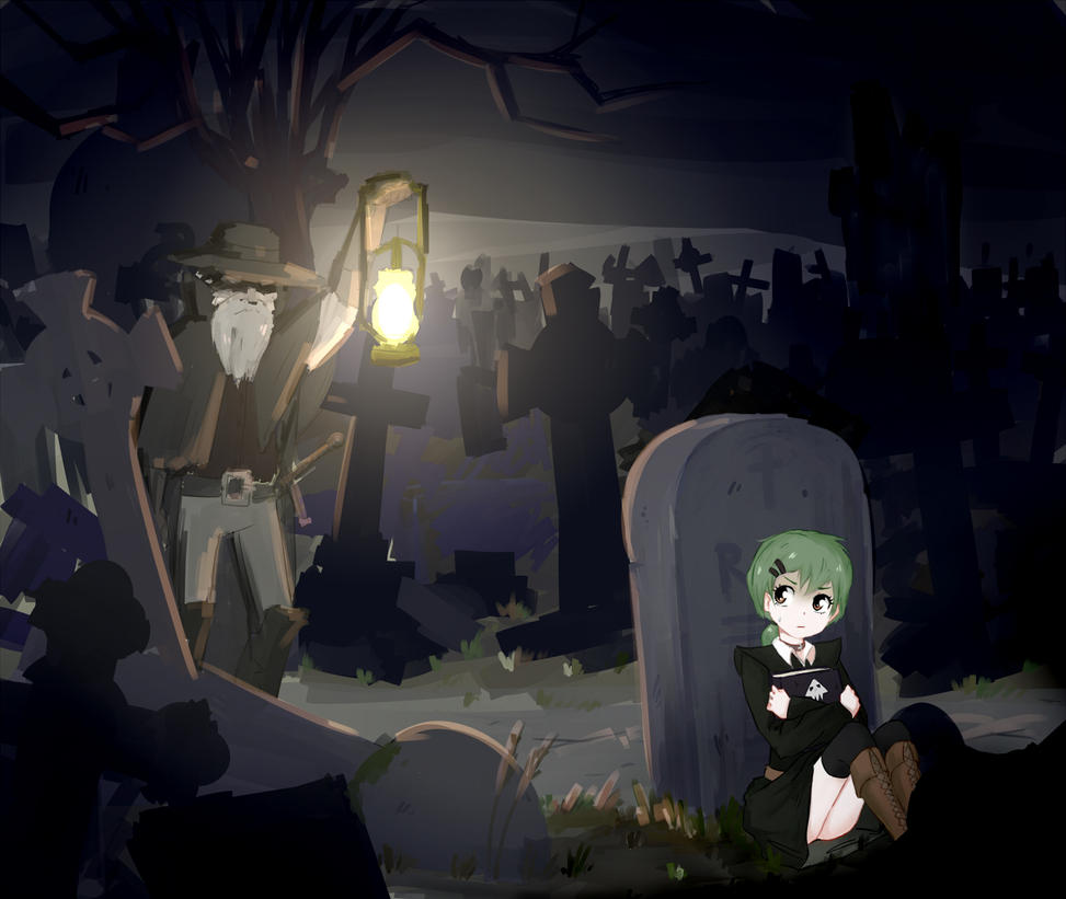 cemetery by 239asd