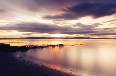 Sunset in Norway by streamweb