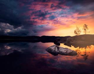 September sunset by streamweb
