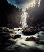 Henfallet waterfall by streamweb