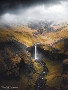 Kvernufoss waterfall