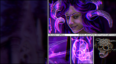 Deadly Spell (close up) by SvetlanaFox
