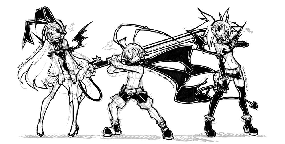 219: THE DISGAEA TRIO INK by crybringer