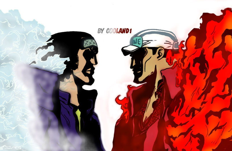 Aokiji vs Akainu by CoolAnd1Aokiji Vs Akainu