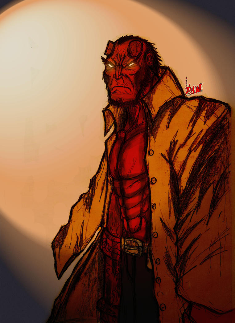 Hellboy - Colored by Gringgosky
