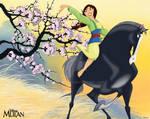 Mulan riding