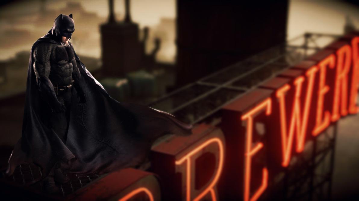 Batman v Superman Neon by djpyro229
