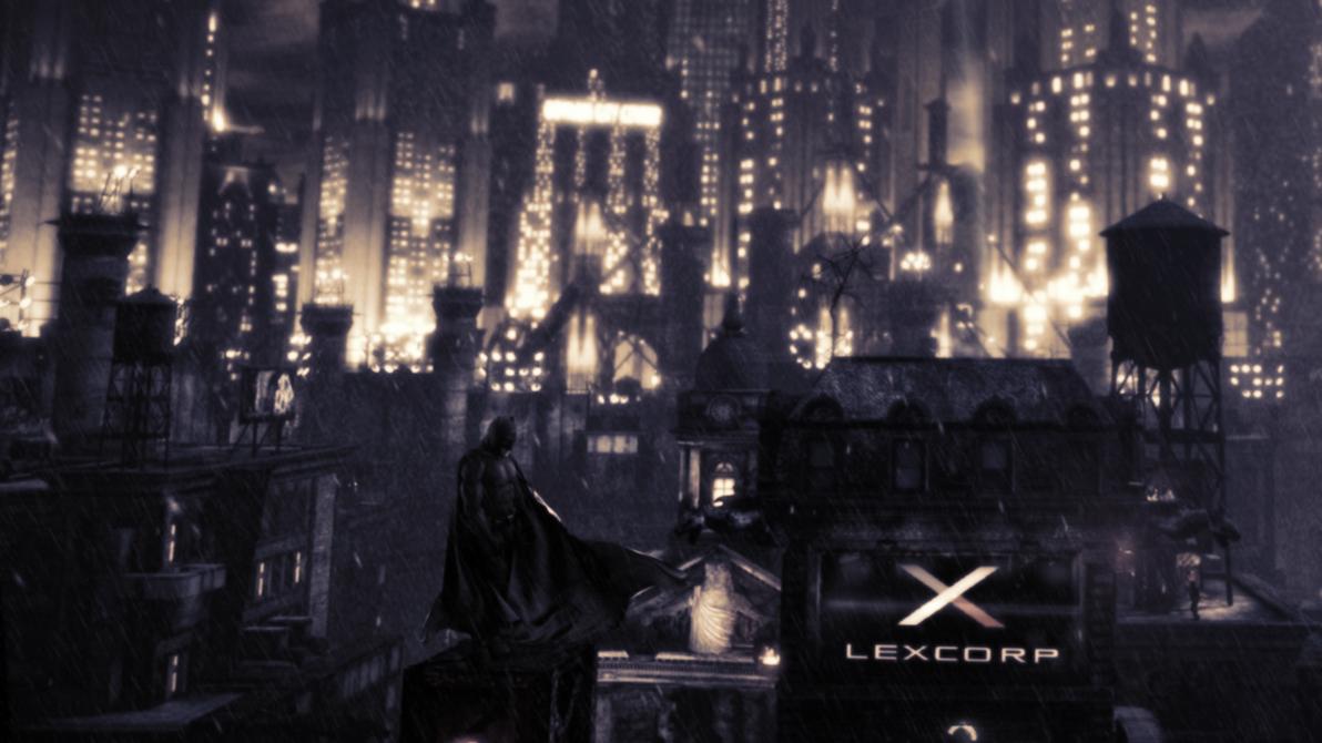 Batman v Superman Skyline by djpyro229