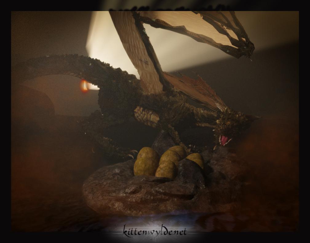 Dragon Queen by kittenwylde