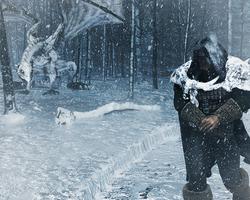 Snow Dragon by kittenwylde