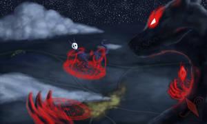 A spirit and a demon (Art Fight 2020)
