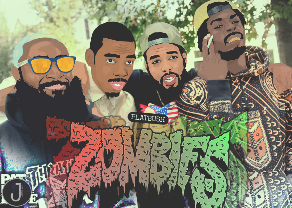 flatbush zombies by jimmyybang on deviantart