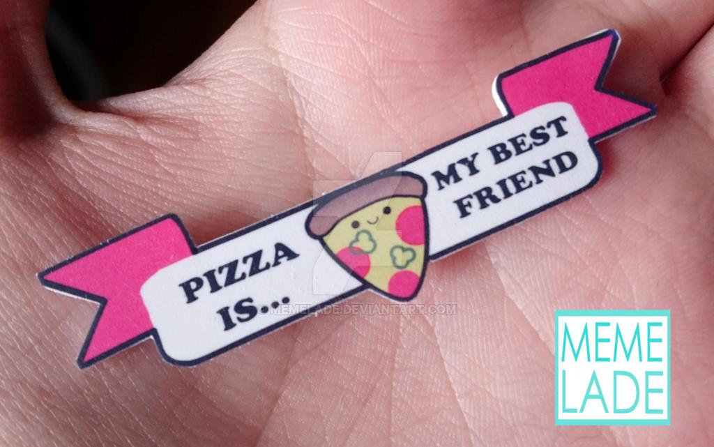 Pizza is my best friend - Necklace by Memelade