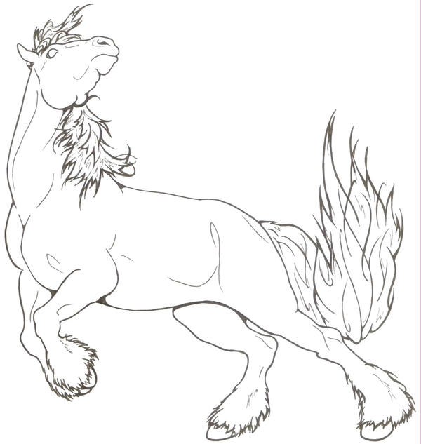 Draft Horse Coloring Pages For Kids