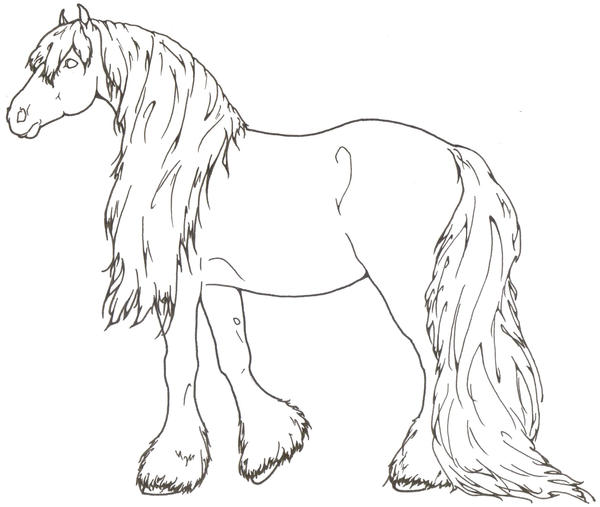 Vorlagen f r felle for Clydesdale coloring pages