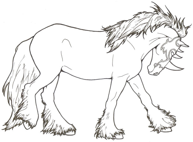 Medieval mount by requay on deviantart for Knight on horse coloring page