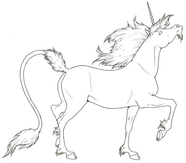 Line Art Unicorn : Unicorn lineart by requay on deviantart