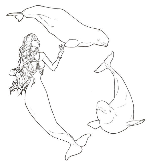 Beluga Mermaid by ReQuay on DeviantArt