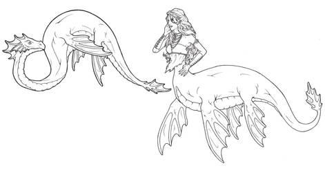 Plesiosaur Mermaid by ReQuay
