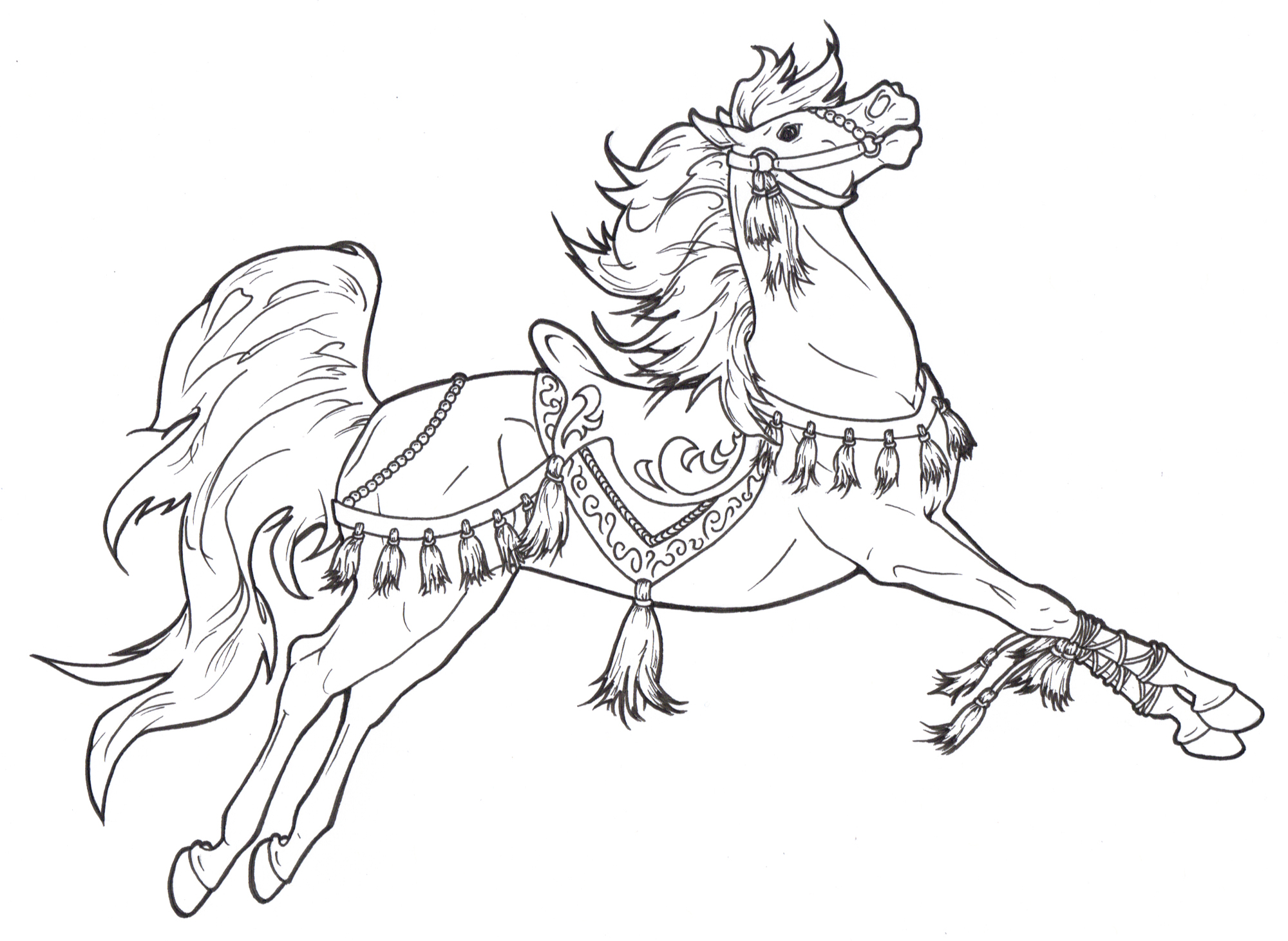 coloring pages carousel horse - photo#14