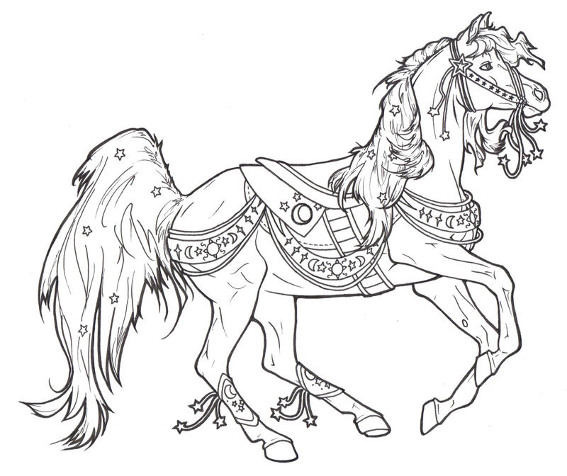 coloring pages carousel horse - photo#30