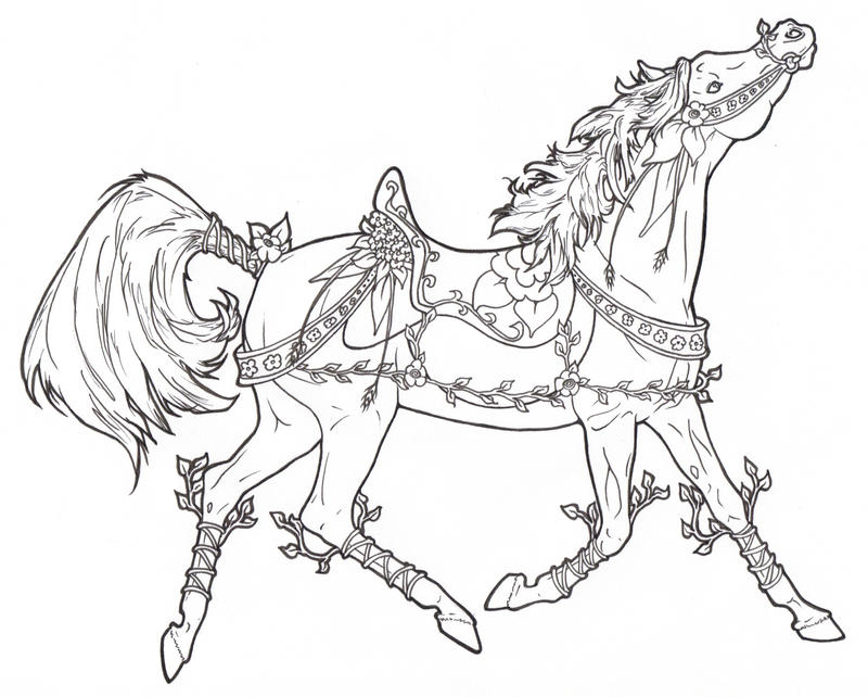 hard horse coloring pages - photo#33