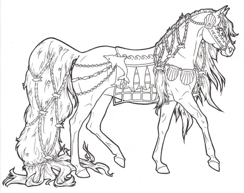 Carousel Horse Coloring Pages On Pinterest