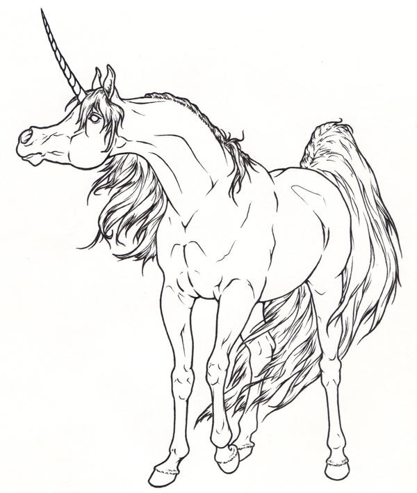 The last unicorn coloring pages
