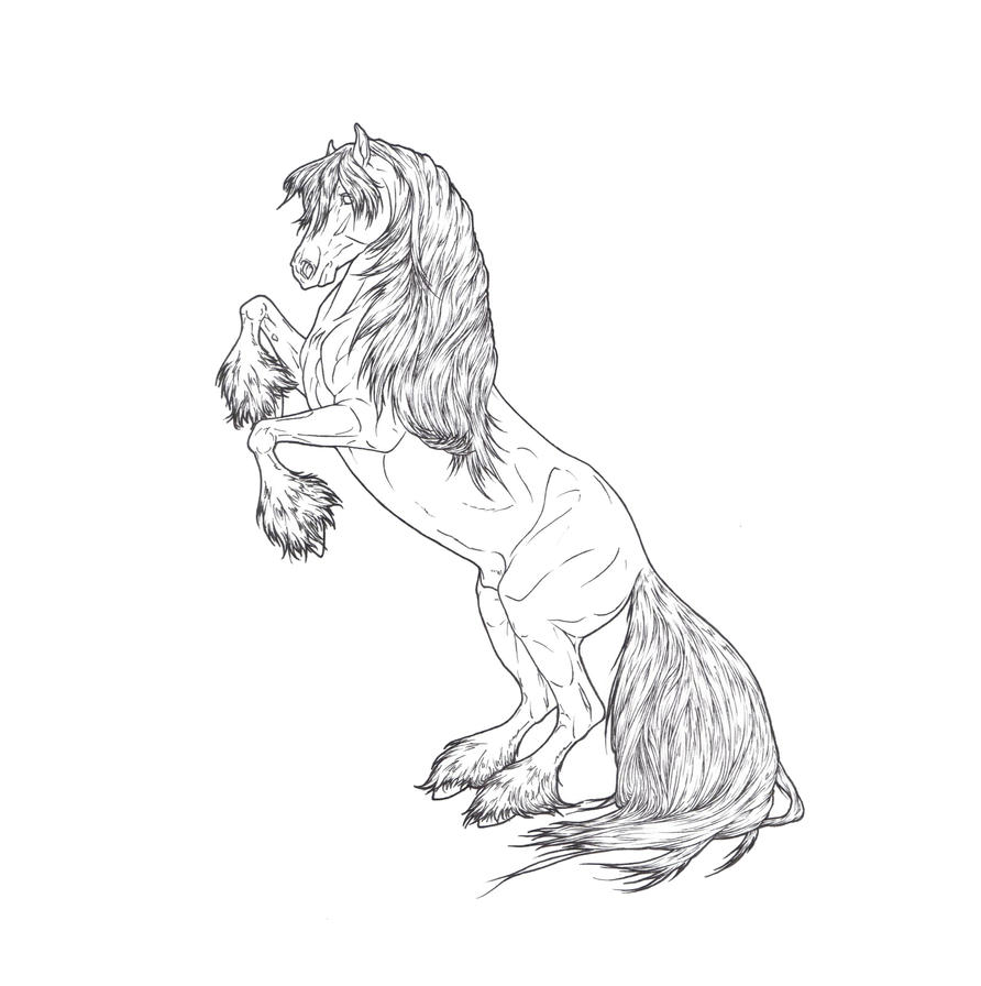 Budweiser clydesdales coloring pages coloring pages for Clydesdale coloring pages