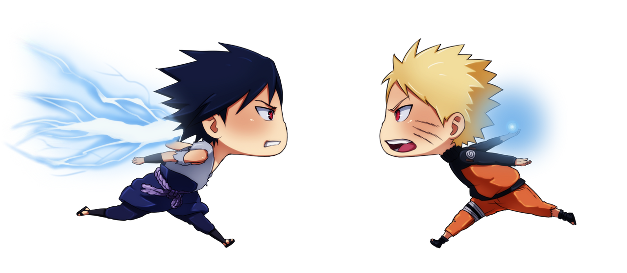 Naruto vs Sasuke by ichan-desu