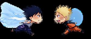 Naruto vs Sasuke by ichan-desu