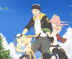 I'm gonna ride the bike for a while by ichan-desu