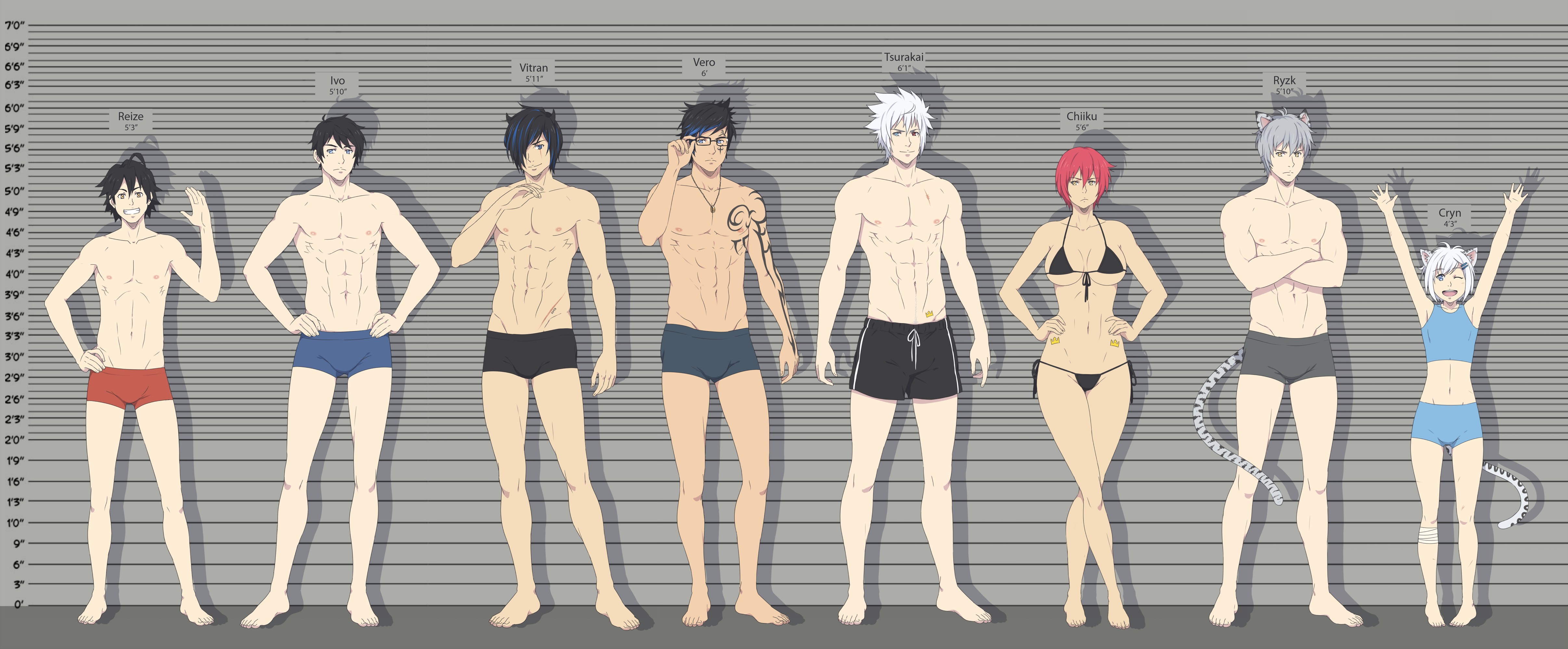 Anime Characters Over 6 Feet Tall : What s your height batch by ichan desu on deviantart