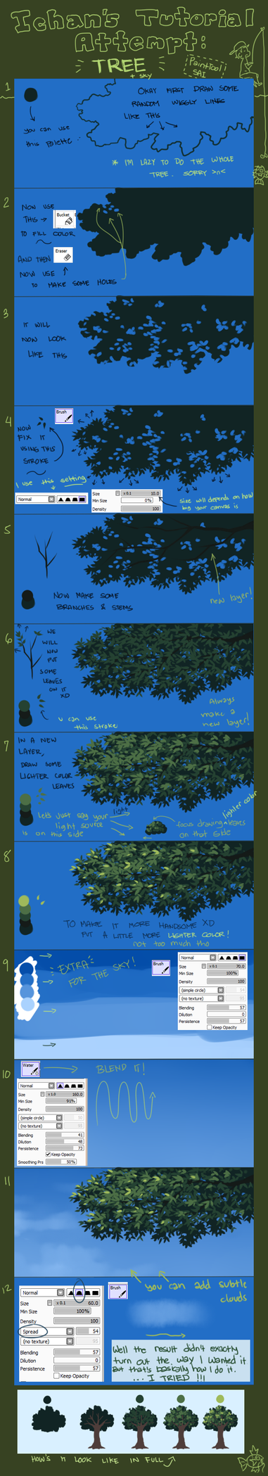 Tutorial Attempt: Tree (Updated) by ichan-desu